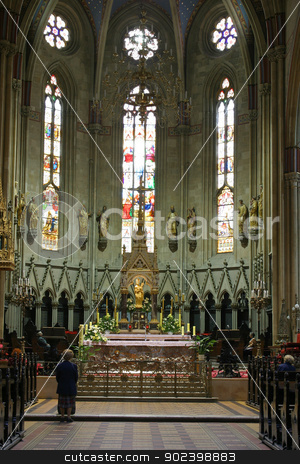 Altar in Zagreb cathedral stock photo, Altar in Zagreb cathedral by Zvonimir Atletic