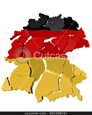 Germany map cracked stock photo, Germany map cracked, conceptual representation of national crisis by paulrommer