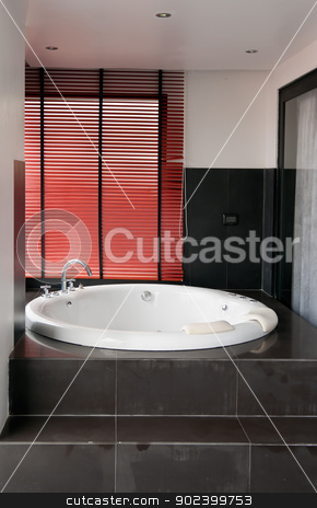 Jacuzzi stock photo, Jacuzzi tub on the balcony of the hotel by Ruslan Kudrin