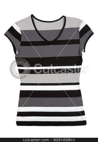 Fashionable women's striped blouse stock photo, Fashionable women's striped blouse. Isolate on white. by Ruslan Kudrin