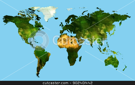world map stock photo, card of all the countries for an ecology in the world by Cochonneau