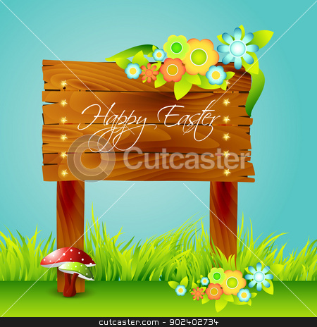 nature background stock vector clipart, vector beautiful nature background with space for your text by pinnacleanimates