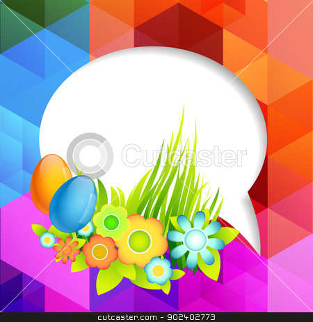easter background design stock vector clipart, vector colorful easter design illustration by pinnacleanimates