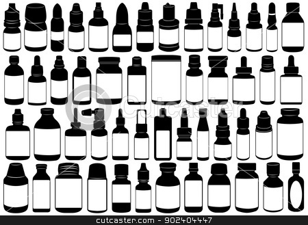 Medicine bottle stock vector clipart, Medicine bottle isolated on white by Ioana Martalogu