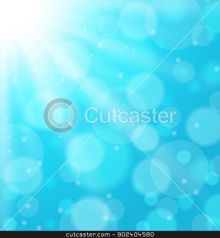 Abstract blue background with sunbeam stock vector clipart, Illustration abstract blue background with sunbeam - vector  by -=Mad Dog=-