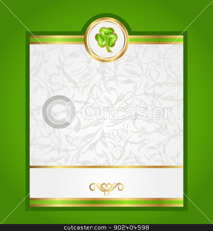 Card with trefoil for Saint Patrick day stock vector clipart, Illustration card with trefoil for Saint Patrick day - vector  by -=Mad Dog=-