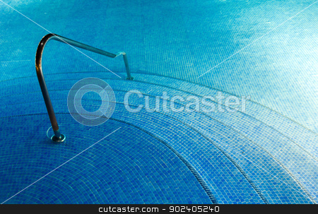 pool water  stock photo, Blue pool water with sun reflections by Vitaliy Pakhnyushchyy