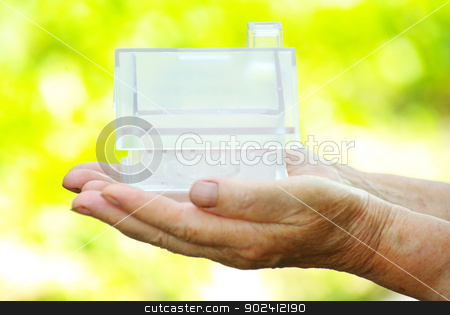  house in hand stock photo, The house in human hand by Vitaliy Pakhnyushchyy