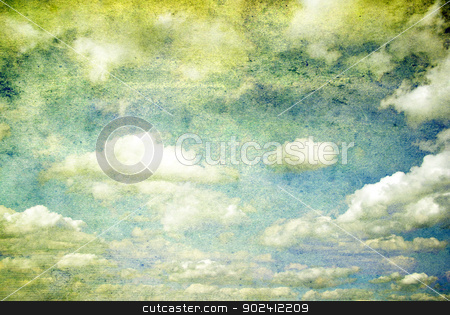 sky  stock photo, grunge background of a sky with clouds by Vitaliy Pakhnyushchyy