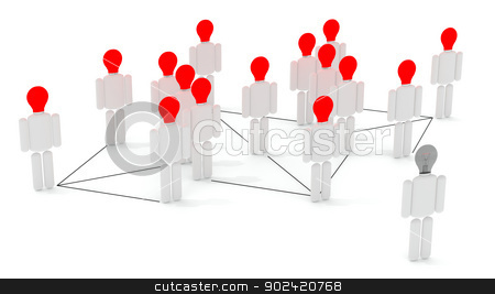 Social media II stock photo, Many people connected in a social network. by Bratovanov