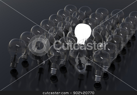 Social media IV stock photo, Creativity Concept with Light Bulb Glowing in 3d. by Bratovanov