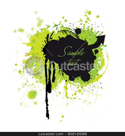 Grunge frame for text inclusion stock vector clipart, Originally designed grunge frame for text inclusion by Maria Repkova