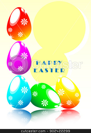 easter eggs stock photo, vivid colors of easter eggs  by Cherdchoosak Ngernsiam