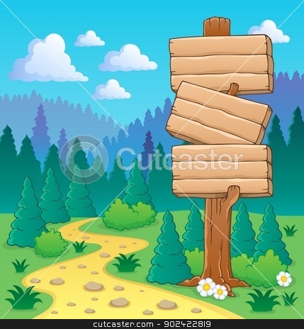 Forest theme image 3 stock vector clipart, Forest theme image 3 - vector illustration. by Klara Viskova