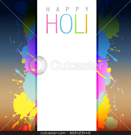 holi background vector stock vector clipart, vector holi background with space for your text by pinnacleanimates