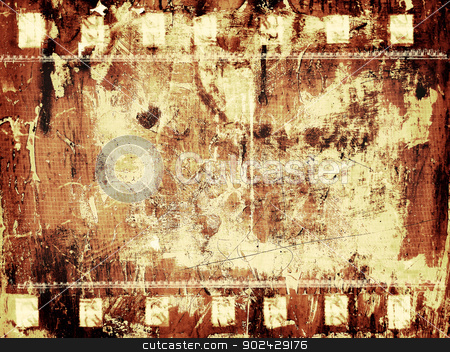 Grunge background stock photo, Computer designed highly detailed grunge textured film frame background by GPimages