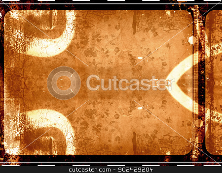 Film frame stock photo, Computer designed highly detailed grunge film frame background by GPimages