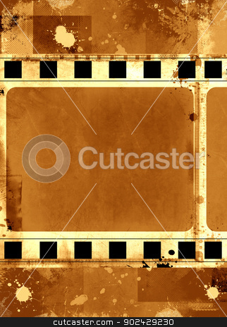 Grunge film frame stock photo, Computer designed highly detailed grunge textured film frame with space for your text or image by GPimages
