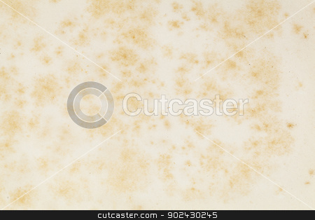 vintage book paper stock photo, texture of old paper with yellow and brown stains from vintage book by Marek Uliasz