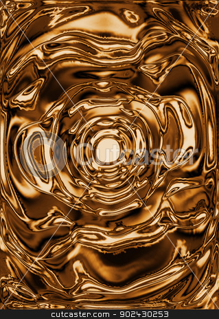 Liquid gold background stock photo, Abstract liquid gold background by steve ball