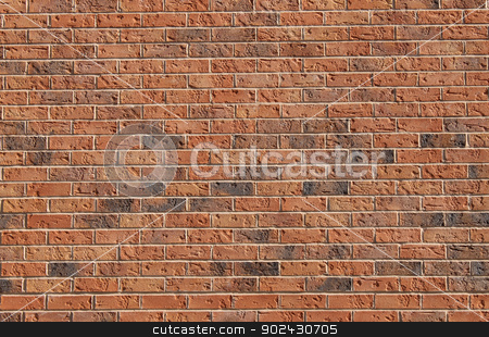 Red brick wall background stock photo, Abstract background of red brick wall. by Martin Crowdy