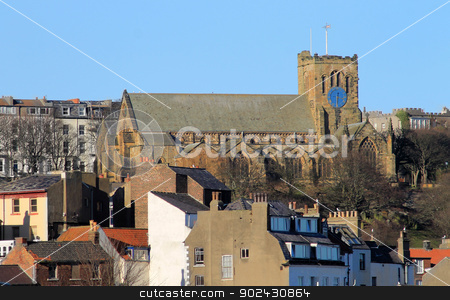 St Marys Church in Scarborough  stock photo, St Marys Church in Scarborough overlooking the old town. by Martin Crowdy
