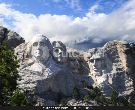 Mount Rushmore stock photo, Mount Rushmore National Memorial in South Dakota. by Bonnie Fink