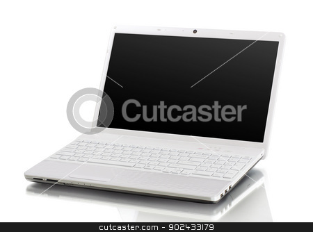laptop  stock photo, laptop isolated on white background by Vitaliy Pakhnyushchyy