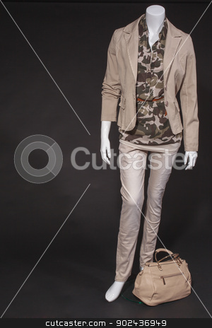 Italian spring fashion  stock photo, Trendy Italian spring fashion for young people on a mannequin by Roland Stollner