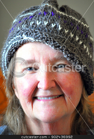 Mature female beauty. stock photo, Mature female beauty expressions indoors. by OSCAR Williams