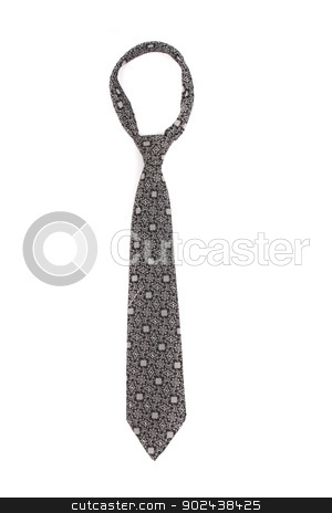 tie stock photo, nice grey tie on the white background by Jiri Vaclavek
