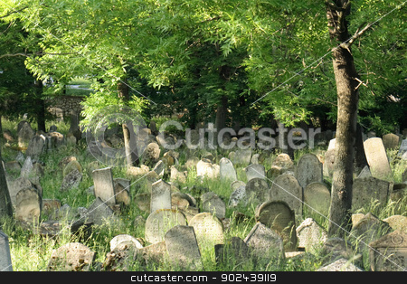 old jewish burial place stock photo, old jewish burial place in the czech repulic by Jiri Vaclavek