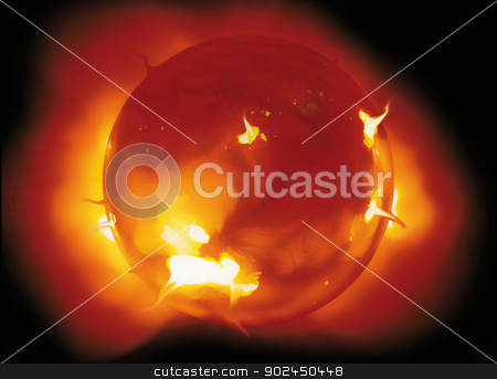 a sun stock photo, photo of a solar flare in space by Cochonneau