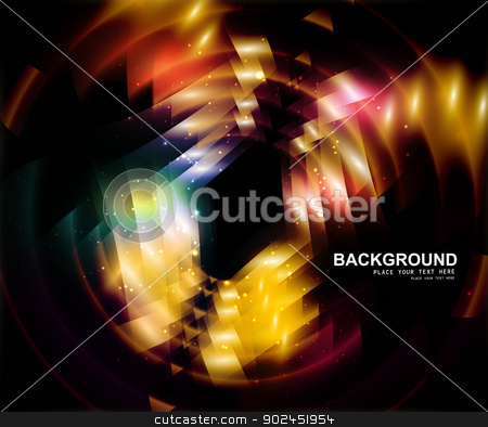 abstract black bright swirl rainbow colorful circle background v stock vector clipart, abstract black bright swirl rainbow colorful circle background vector illustration by bharat pandey
