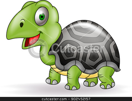 Turtle cartoon stock vector clipart, Vector illustration of Turtle ...