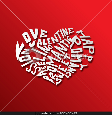 Hearth love concept background stock vector clipart, Vector illustration of Hearth love concept background by Teguh Mujiono