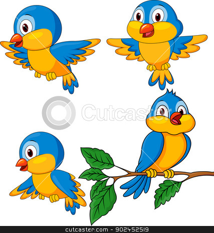 Bird cartoon  stock vector clipart, Vector illustration of Bird cartoon  by Teguh Mujiono
