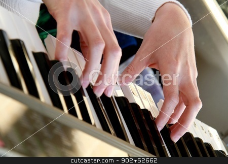 Piano stock photo, Image of a piano player in a concert by zuzanaderek