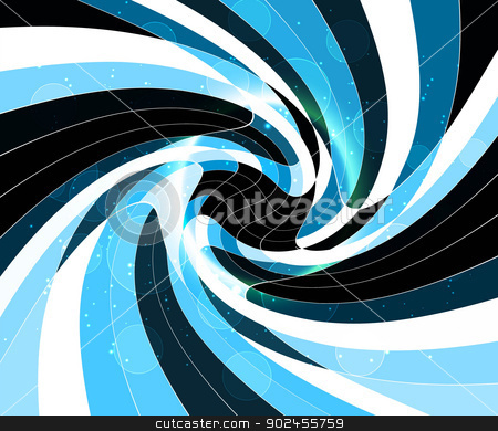abstract black bright swirl blue colorful circle wave  stock vector clipart, abstract black bright swirl blue colorful circle wave vector by bharat pandey
