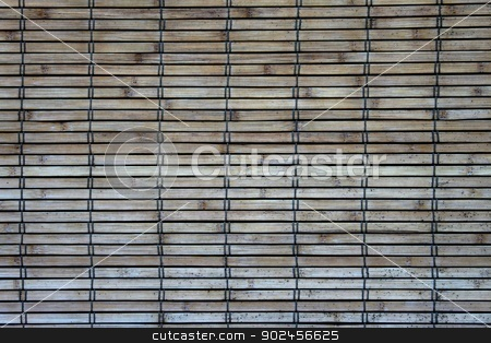 Bambo Wall stock photo, Weathers bamboo wall cover by Henrik Lehnerer