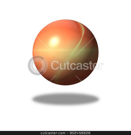 Fractal Gloabe stock photo, Orange fractal building a globe. by Henrik Lehnerer