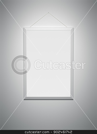 white frame stock photo, An image of a white frame on a white wall by Markus Gann