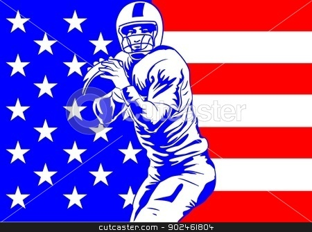 Football poster stock vector clipart, Conceptual illustration about Football. Poster for football championship. by PhotoEstelar