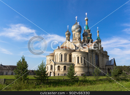 Temple in the village Kukoba stock photo, Temple of the Divine Savior of the image in the village Kukoba. Russia by logos2012