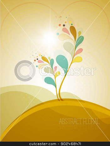 new colorful floral stock vector clipart, new colorful floral background eps10 by bharat pandey