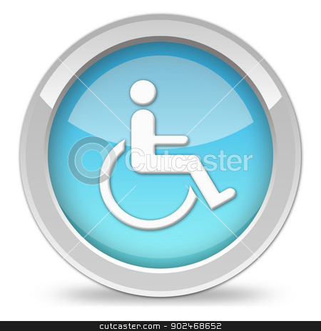 handicap icon stock photo, handicap icon by DoReMe