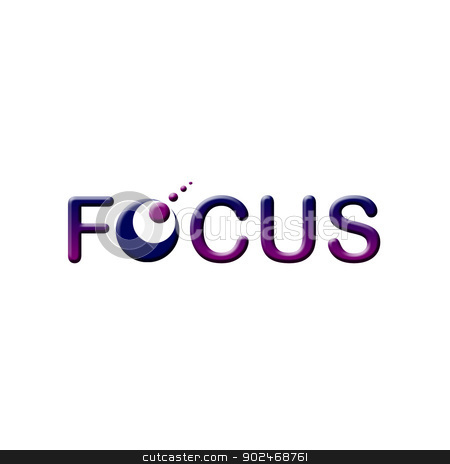 Focus logo stock photo, Focus logo by DoReMe