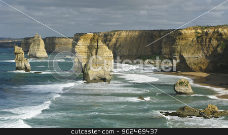12 apostles stock photo, 12 apostles on the great ocean road in victoria, australia by Andreas Altenburger
