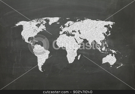 world map on chalk board stock photo, world map on chalk board, world map from www.lib.utexas.edu by matteo bragaglio