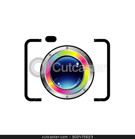 Digital camera stock vector clipart, Digital camera by DoReMe